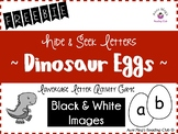 Hide & Seek Alphabet Letters - Dinosaur Eggs Freebie