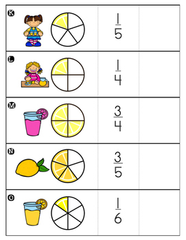 Hide and Seek Fraction Flip Cards: Cooking Theme