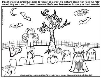 Hide and Seek Halloween Artic Picture scenes FREEBIE