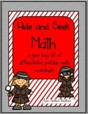 Hide and Seek Math: A year-long addition and subraction printable set