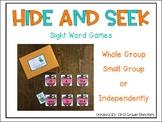 Sight Word Hide and Seek