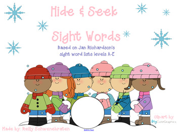 Hide and Seek Sight Words-Christmas/Winter theme