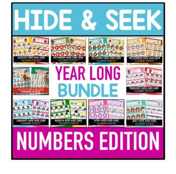 Hide and Seek Year Long Bundle - Number Edition  (Growing Bundle)