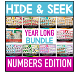 Hide and Seek Year Long Bundle - Number Edition  (Growing Bundle)