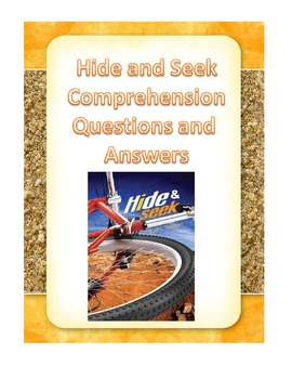 Hide and Seek by Katy Grant Comprehension Questions and Answers