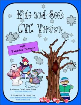 Hide-and-Seek with Three Winter Themes (A Hidden Objects Game): CVC Version