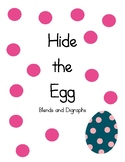 Hide the Egg Literacy Center (blends and digraphs)
