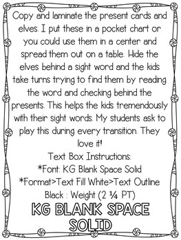 Hide the Elf Pocket Chart Game: Sight Word Edition *Editable*