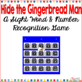 Hide the Gingerbread Man a Sight Word and Number Recognition Game