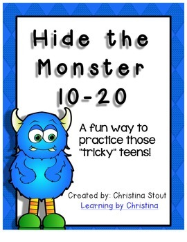 Hide the Monster 10 - 20 Math Game