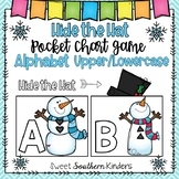 Hide the Snowman's Hat Pocket Chart Game Alphabet Upper/Lowercase