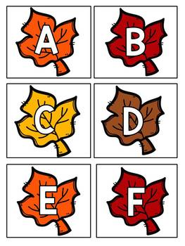 Hide the Turkey Pocket Chart Game Alphabet Upper and Lowercase