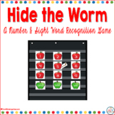 Hide the Worm and Number Recognition and Sight Word Game