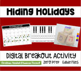 Hiding Holidays Digital Breakout-Christmas/Hanukkah & Kwan