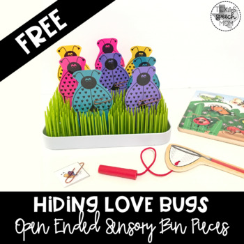 Hiding Love Bugs- Open Ended Sensory Bin Materials