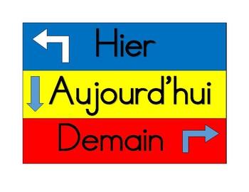 Hier, Demain, Aujourdhui Cards for Calendar