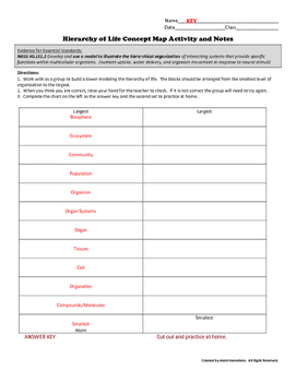 Hierarchical Concept Map Activity and Notes