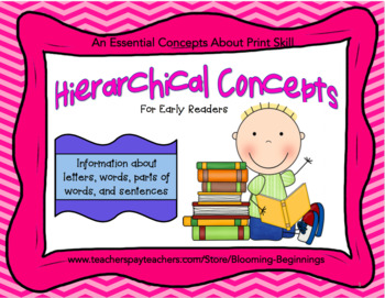 Hierarchical Concepts for Early Readers: An Essential Concepts About Print Skill