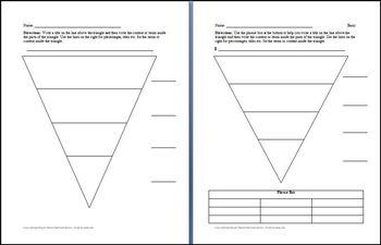 Hierarchy Triangle Graphic Organizers Mini-Bundle