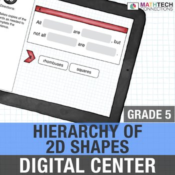 Hierarchy of 2D Shapes - 5th Grade Digital Interactive Math Center