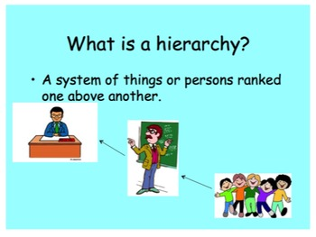 Hierarchy of Cells (Cells, tissues, organs, systems) powerpoint