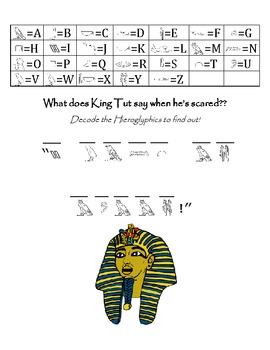 Hieroglyphic Printable Worksheet Set of Three