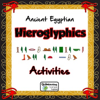 Hieroglyphics Activities (Decode Messages - Write Your Name in Egyptian Frame)