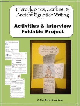 Hieroglyphics, Scribes, & Writing in Egypt: Activities & F
