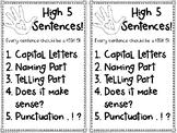 High 5 Sentences!
