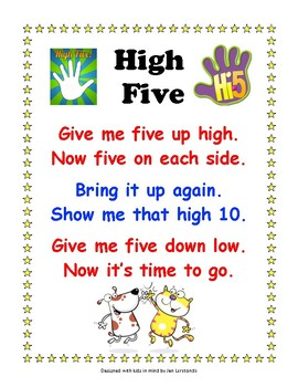 High 5 Sign and Poem