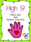 High 5! Word Use and Syntax Game