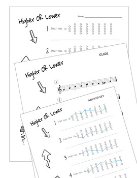 High AND Low Music Worksheets!