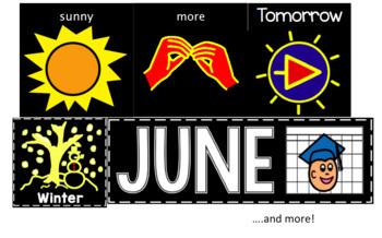 High Contrast Calendar & Communication Supports