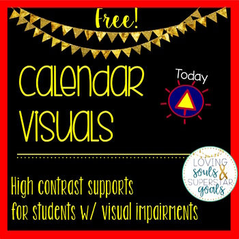 High Contrast CVI Calendar & Communication Supports