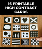 High Contrast Cards for Babies, Black and White Sensory Ca