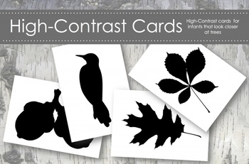 High Contrast Cards for Infants featuring Tree Life