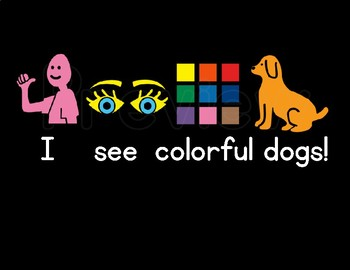 High Contrast Digital Book: I See Colorful Dogs