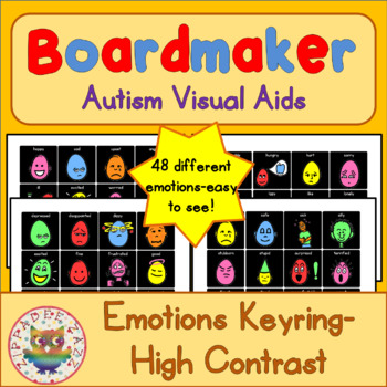 High Contrast Emotion / Feelings Cards - Boardmaker Visual Aids for Autism
