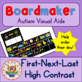High Contrast First, Next, Last Keyring - Boardmaker Visual Aids for Autism SPED