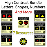 High Contrast Print Bundle for Students With Vision Needs