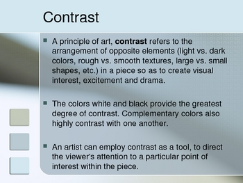 High Contrast Project PowerPoint