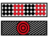 High Contrast Red, White, Black Borders/Clip Art