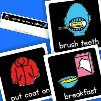 High Contrast School Morning Routine - Boardmaker Visual Aids for Autism