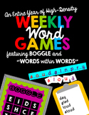 """High-Density Classroom words Games Featuring Boggle and """"Words within Words"""""""