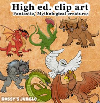 High Ed. Clip Art Volume 2: Fantastic Creatures or Mytholo