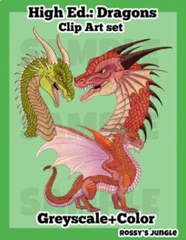 High Ed. Dragons Fall 2018 clip art set