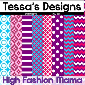 High Fashion Mama {Digital Paper Pack}