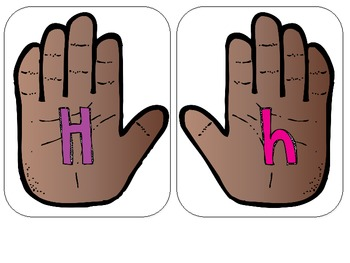 High Five ABC Practice {upper and lower case letters}