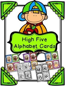 High Five Alphabet Cards - Letter Recognition Activity