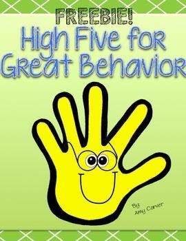 High Five Behavior --Responsive Classroom